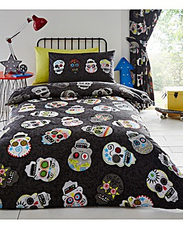 Sugar Skulls Duvet Cover Set