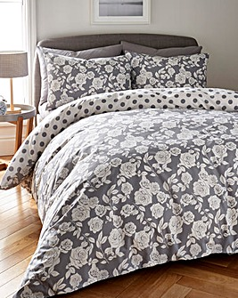 Darcy Grey Duvet Cover Set