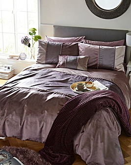 Georgia Velvet Bands Duvet Cover Set