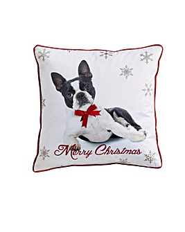 Christmas Dog Cushion Cover