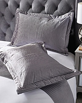 Austen Pleated Grey Pillowsham Pair