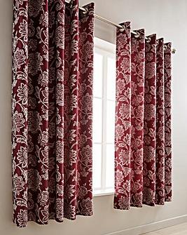 Orla Jacquard Eyelet Lined Curtains