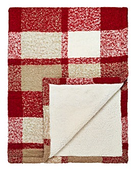 Boucle Check Supersoft Sherpa Throw