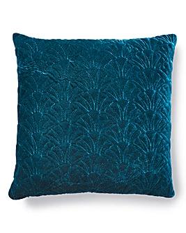 Shells Velvet Quilted Cushion
