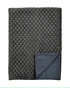 Luxury Textured Velvet Quilted Throw