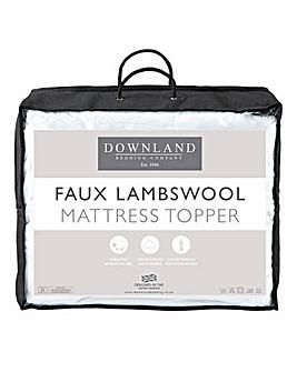 Fluffy Faux Lambswool Mattress Topper