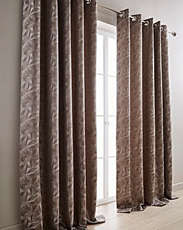 Cuba Woven Lined Eyelet Curtains