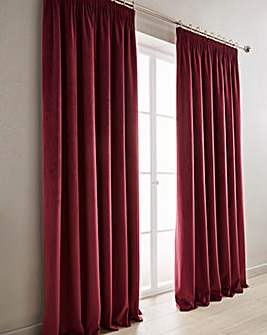 Luxury Velour Pencil Pleat Curtains