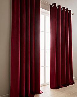 Luxury Velour Lined Eyelet Curtains