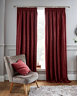 Balmoral Leaf Pencil Pleat Curtains