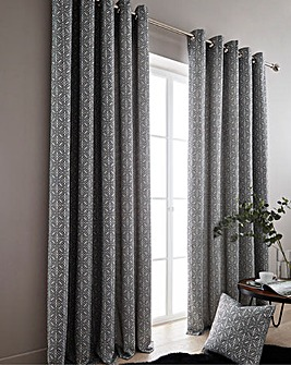 Florence Lined Eyelet Curtains