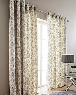 Chloe Printed Floral Curtains