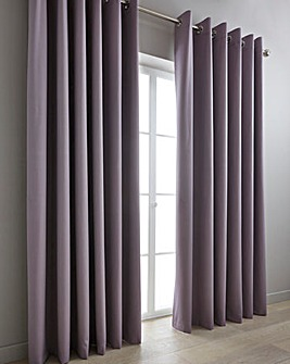 Woven Canvas Blockout Eyelet Curtains