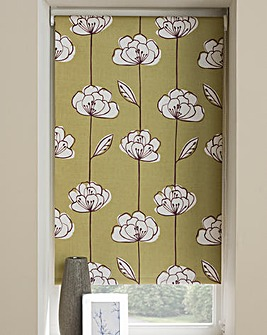 Lotus Printed Blackout Roller Blind