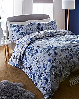 Viola Blue Duvet Cover Set