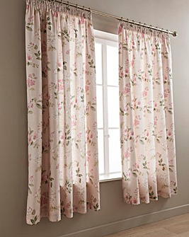 Lorena Blush Lined Curtains
