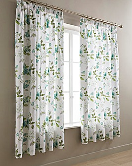 Lorena Green Lined Curtains