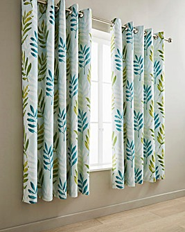 Kew Teal Lined Curtains