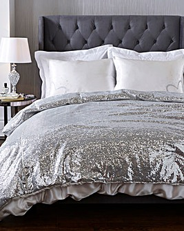 Caprice Sequin Silver AdrianaThrow