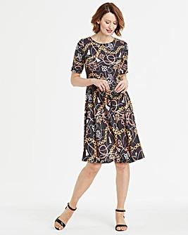 Print Skater Dress