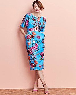 Floral Printed Bodycon with Pockets