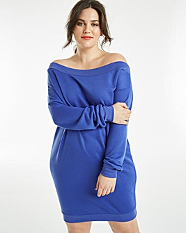 Off Shoulder Sweat Dress