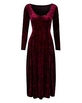 Joanna Hope Crushed Velour Dress
