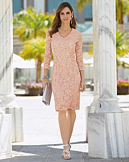 Together Lace Sequin Dress
