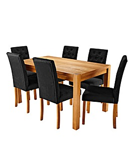 Oakham Large Table with 6 Grace Chairs