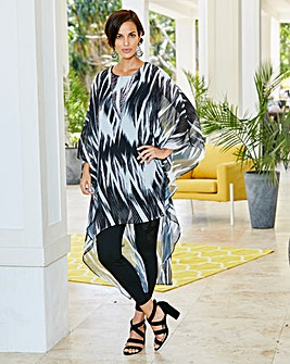 Joanna Hope Diamante Trim Print Kaftan