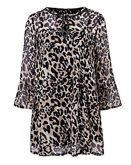 Joanna Hope Animal Print Blouse