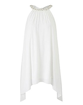 Joanna Hope Jewel Trim Longline Tunic