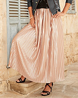 Joanna Hope Pleated Maxi Skirt