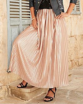 Joanna Hope Pleated Maxi Skirt
