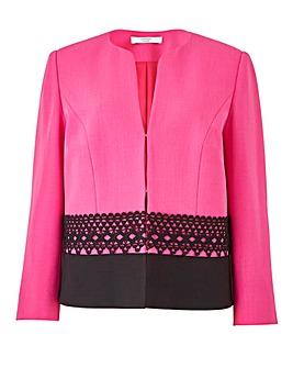 Joanna Hope Lace Trim Jacket
