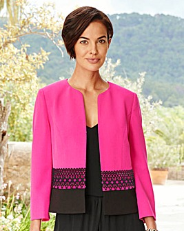 Joanna Hope Lace Trim Jacket
