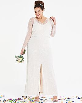 Joanna Hope Beaded Bridal Maxi Dress