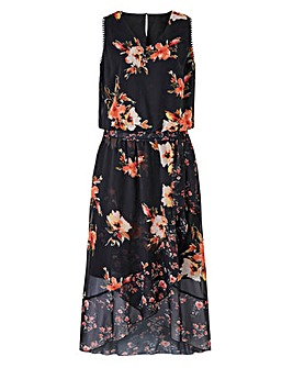 Joanna Hope Print Hi Low Hem Dress