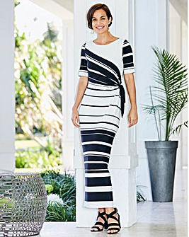 Joanna Hope Stripe Maxi Dress