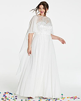 Joanna Hope Cape Bridal Dress