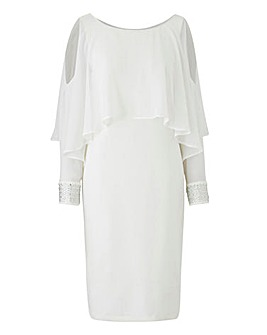 Joanna Hope Cape Detail Dress