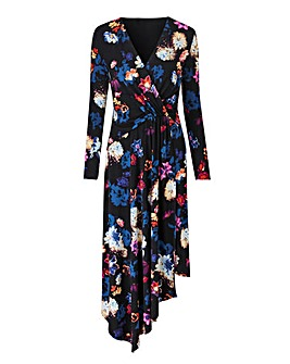 Joanna Hope Print Asymmetric Hem Dress