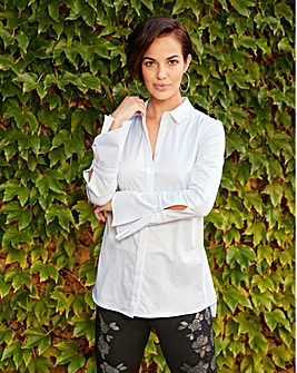 Joanna Hope Stretch White Shirt