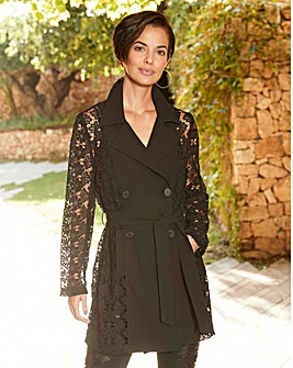 Joanna Hope Lace Sleeve Jacket