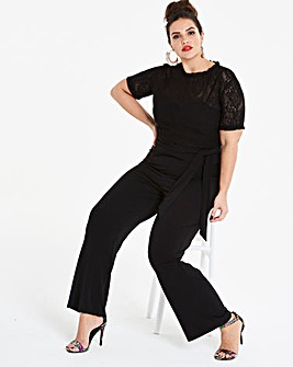 Joanna Hope Lace Top Jumpsuit