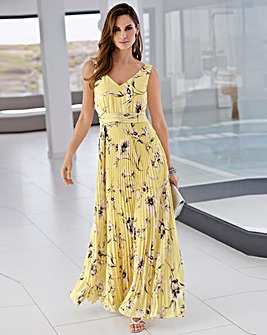 Together Pleated Maxi Dress