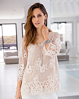 Together Lace Effect Jersey Top