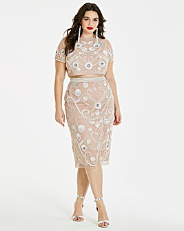 Simply Be Beaded Top and Skirt Co-Ord