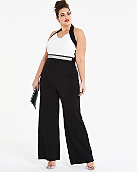 Joanna Hope Bead Trim Jumpsuit