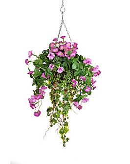 Artificial Petunia Hanging Basket